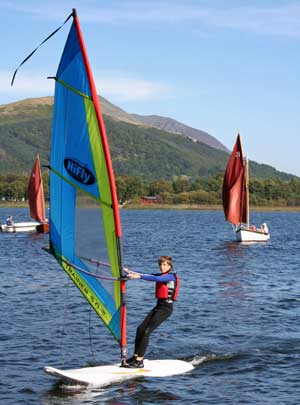 Sailboard on Derwentwater